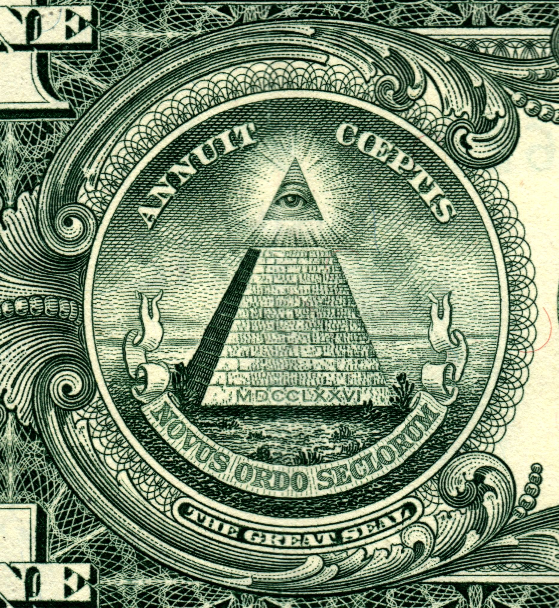 All Seeing Eye Dollar Bill