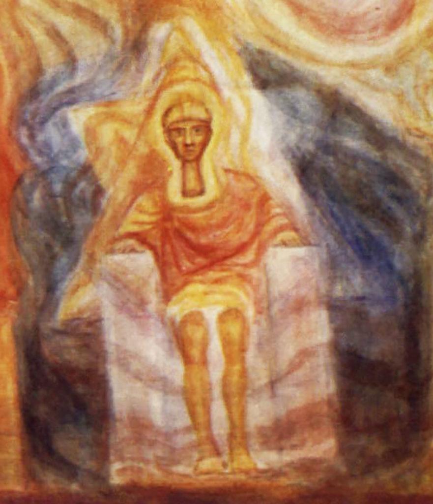 Ägyptischer Eingeweihter. Kuppel des Ersten Goetheanum