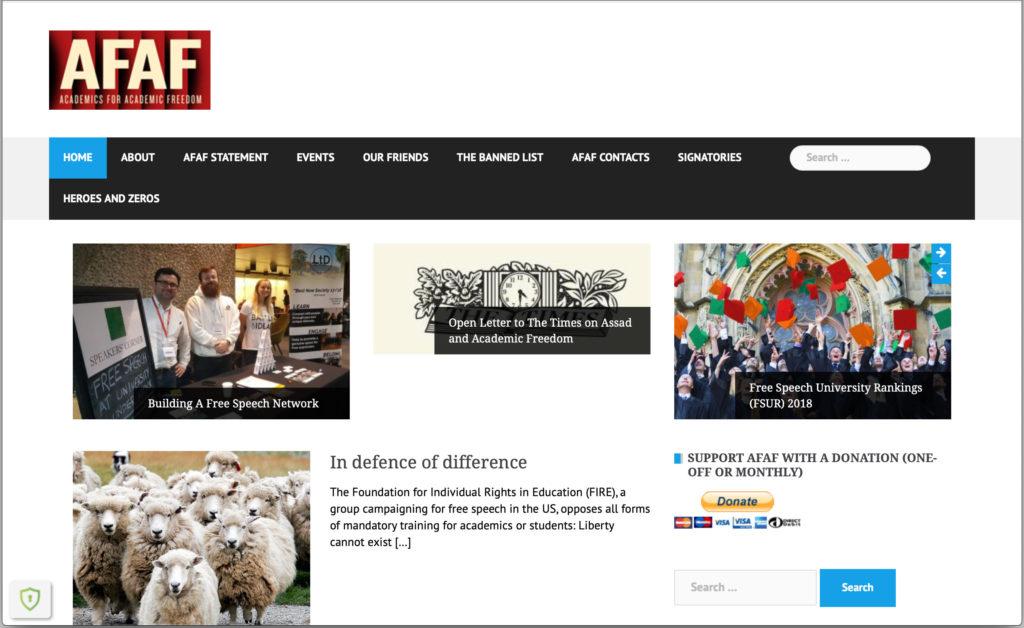 AFAF Webseite